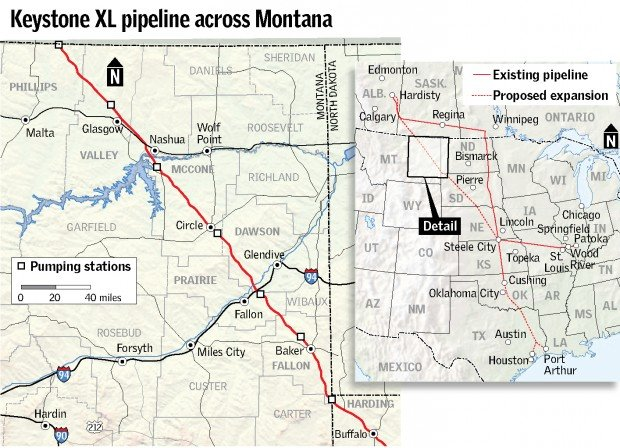 Keystone Pipeline Map Montana News Billingsgazette Com
