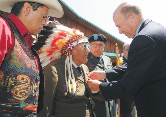 Medicine Crow honored for WWII service