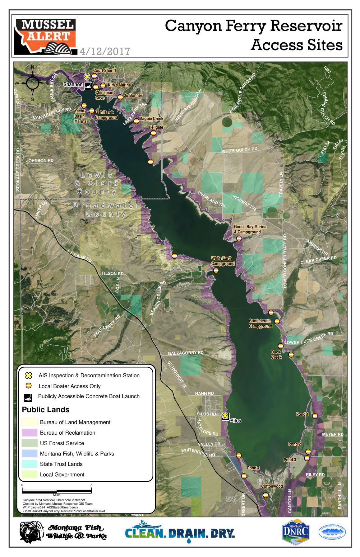 Canyon Ferry Map