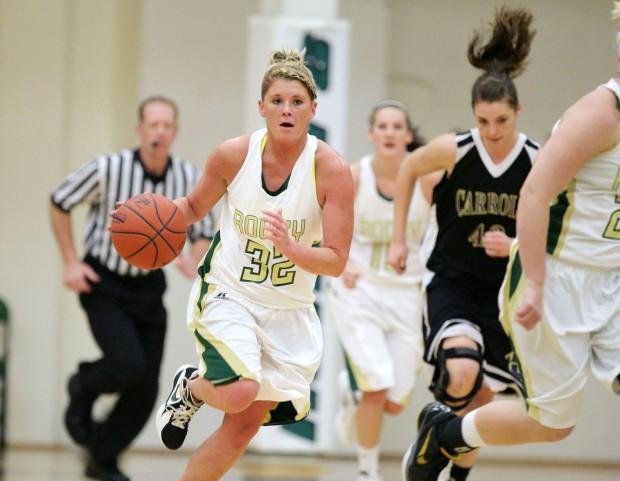 Micki Scally of Rocky Mountain College picks up a steal