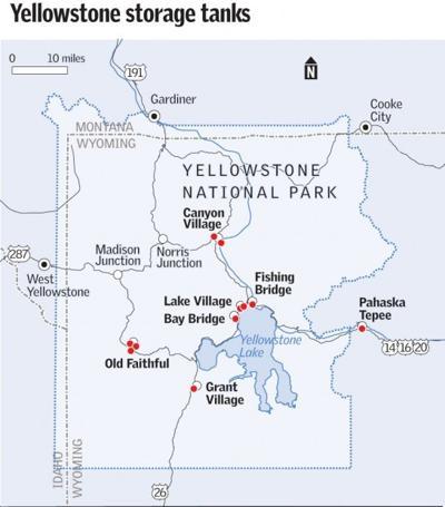 Yellowstone storage tanks