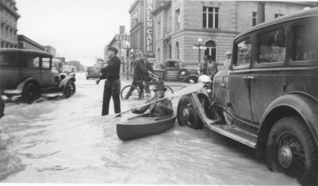 1937 downtown Billings flood