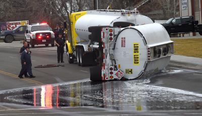 Tanker spilling fuel