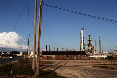 Newcastle oil refinery