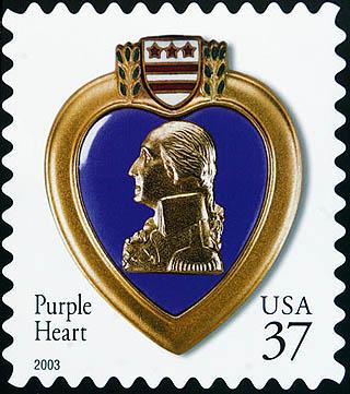 Stamp commemorates Purple Heart