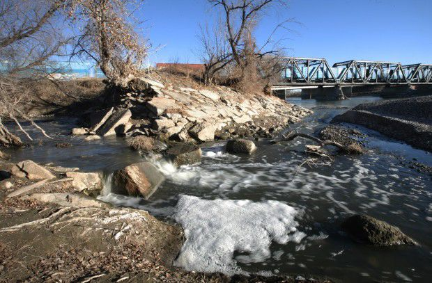 Runoff flows into the Yellowstone River