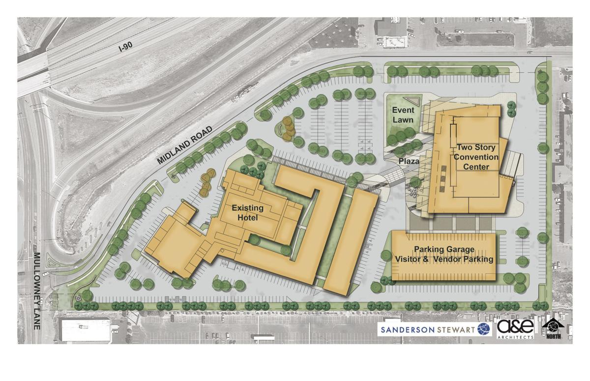 Footprint of convention center site