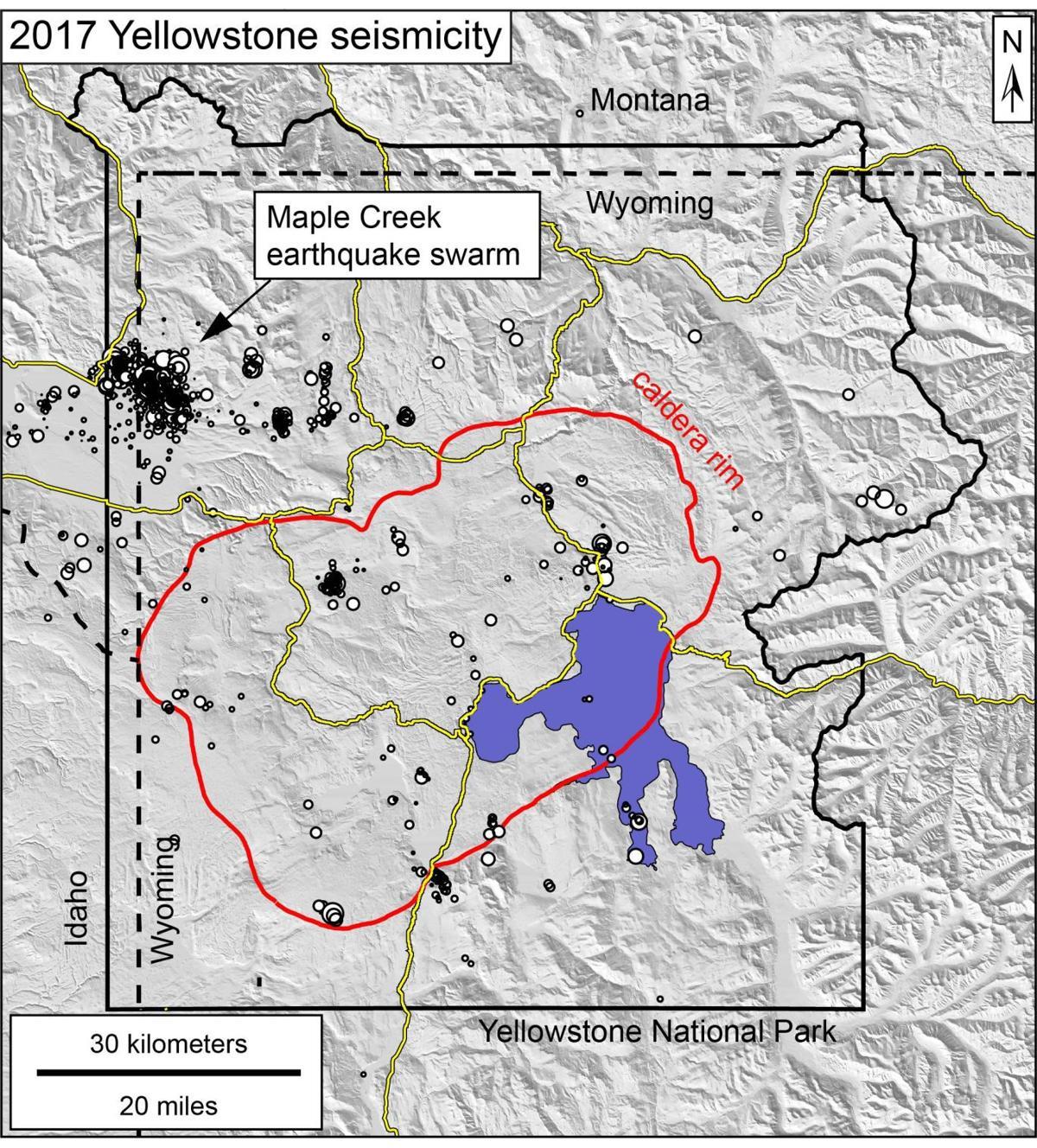 Yellowstone 2017 seismic activity