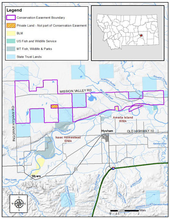Map of proposed easement