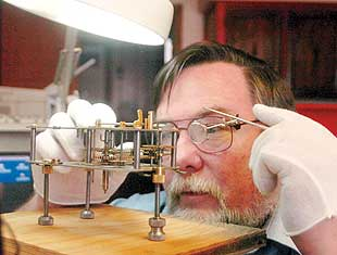 Tinkering skill leads to work fixing clocks