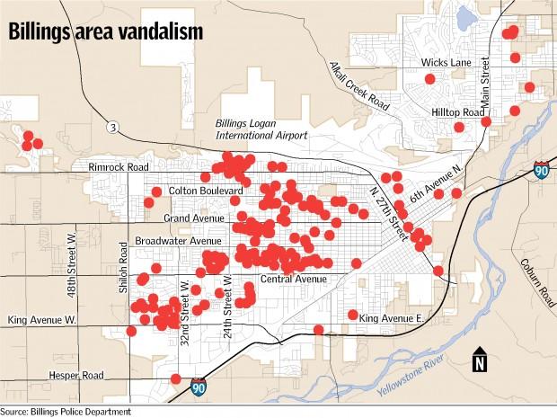 Vandalism map