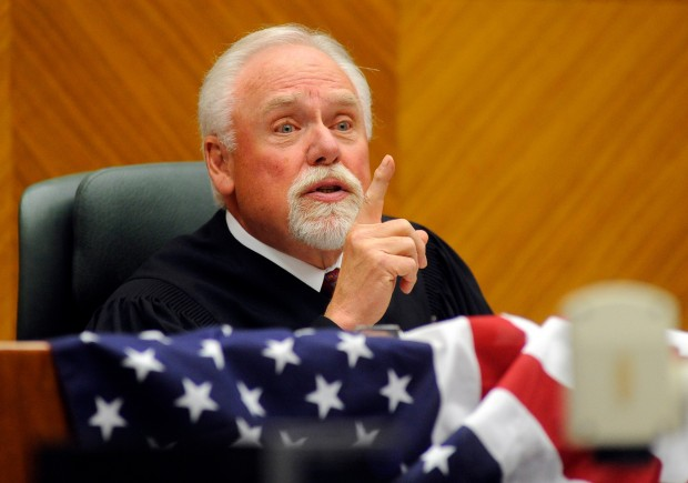 Chief Judge Richard F. Cebull makes a speech during a Naturalization Ceremony