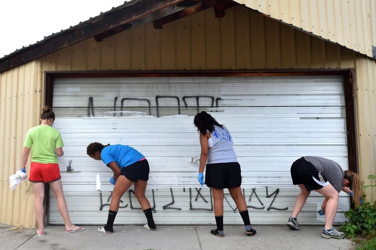 South side graffiti clean up