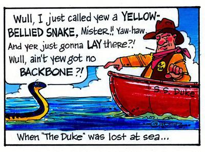 The Duke meets a sea snake