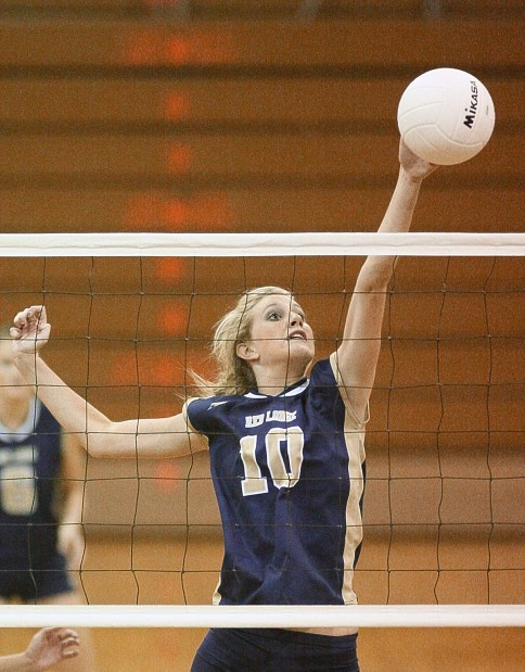 Red Lodge middle hitter Elli Hellerud has been a four-year starter
