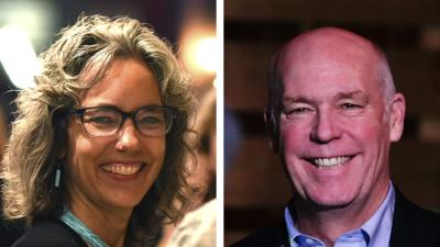Kathleen Williams and U.S. Rep Greg Gianforte