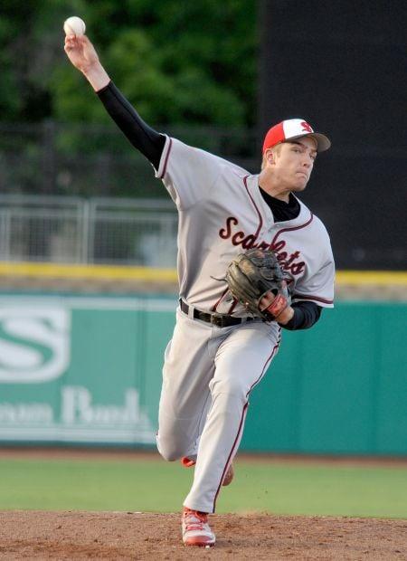Scarlets pitcher Collin Maier
