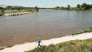 Water levels of Yellowstone River on the rise