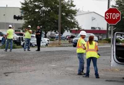 Worker hit by car