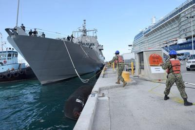USS Billings arrives at Key West, Florida
