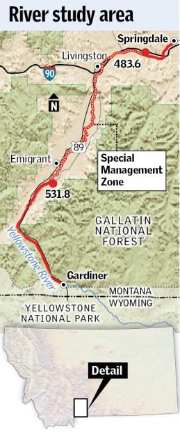 Yellowstone River study map