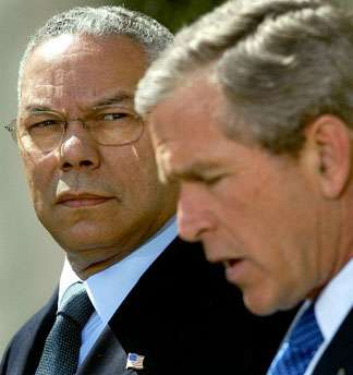 Bush sending Powell to Middle East