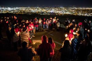 Photos: candlelight vigil for Selena Not Afraid