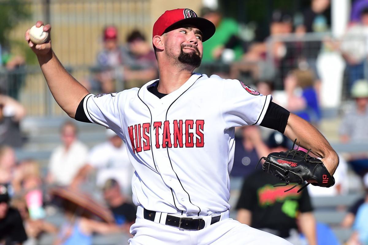 Mustangs pitcher Tyler Mondile