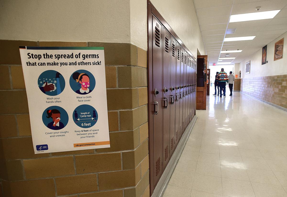 COVID signs at Senior High