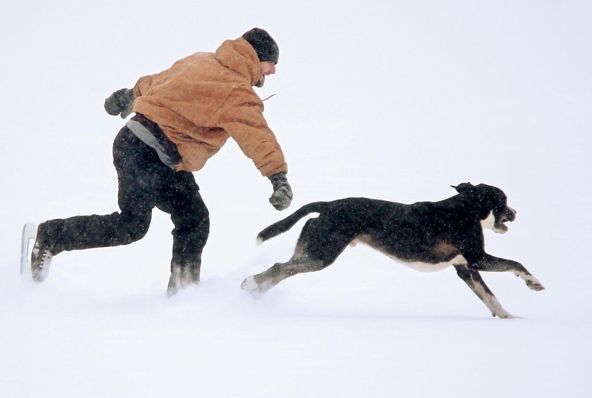 Brandon Patterson ice skates