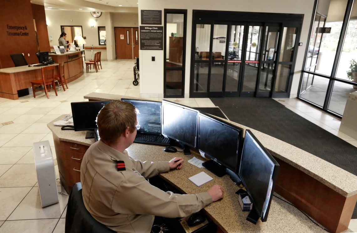 Billings Clinic security manager Paul Yerger