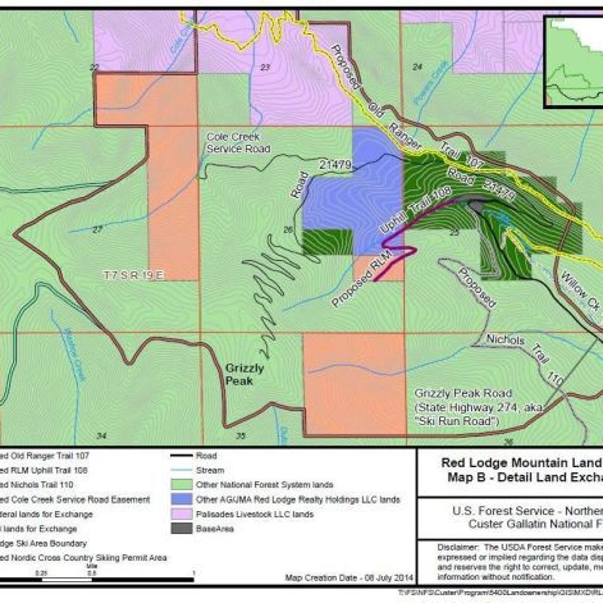 Red Lodge Mountain land exchange with forest approved ...