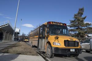 Billings Senior High School buses
