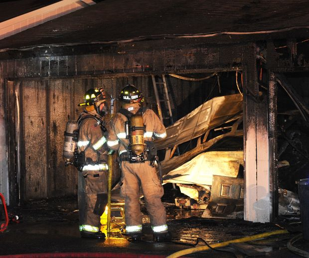 Garage fire on Heather Drive
