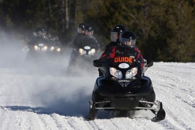 A snowmobile guide