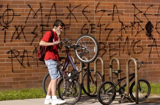 Skyview High struck by spray-paint vandals