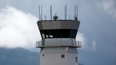 Control tower at Bozeman Yellowstone International Airport