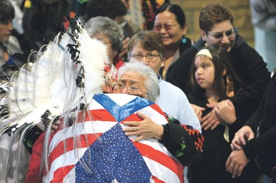 Returning Marine honored by tribe