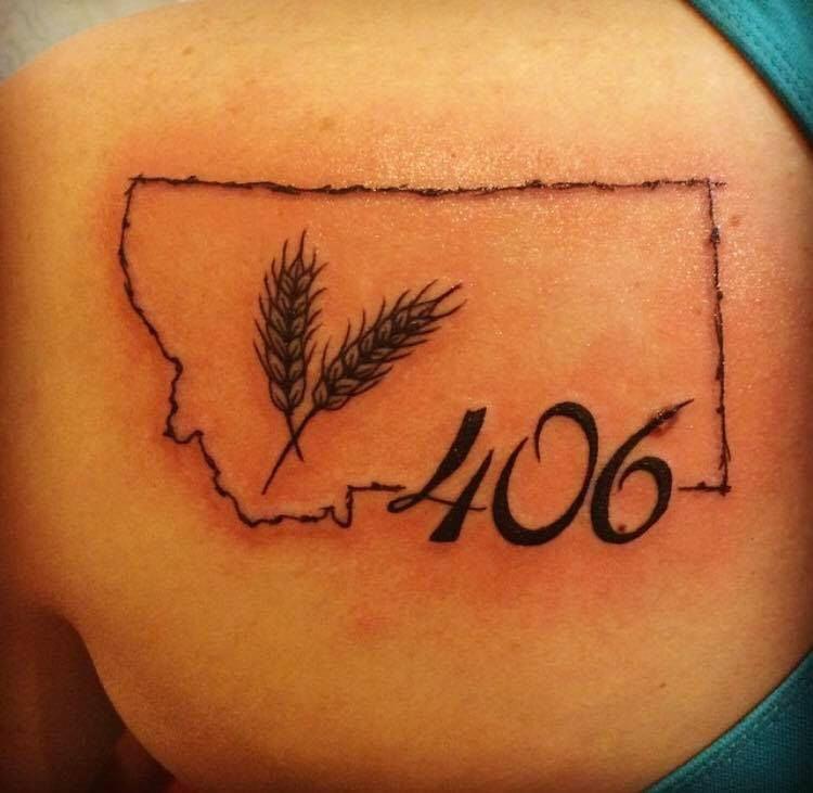 406 ink tattoos featuring montana 39 s area code montana news. Black Bedroom Furniture Sets. Home Design Ideas