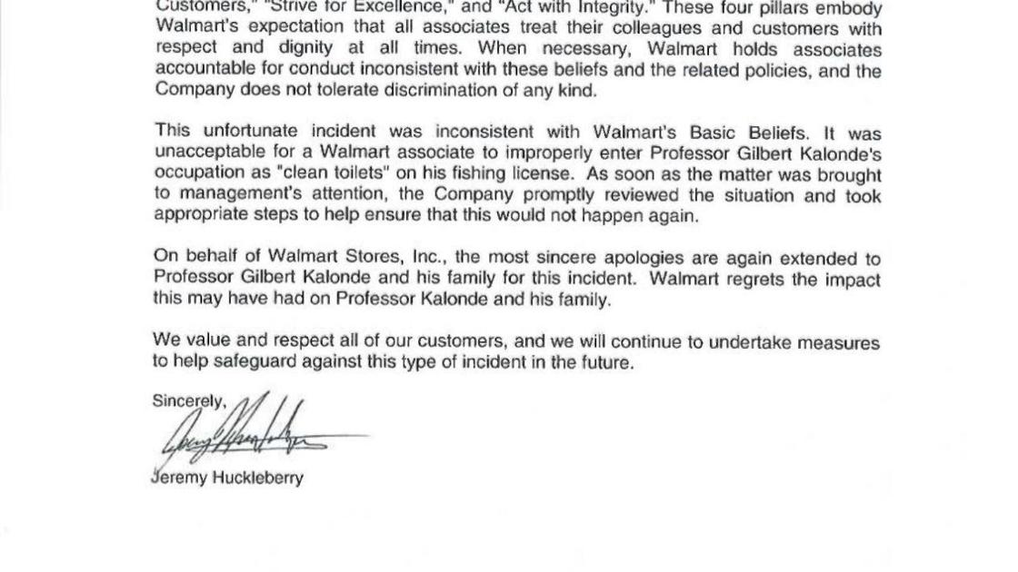 apology letter from walmart | state & regional | billingsgazette