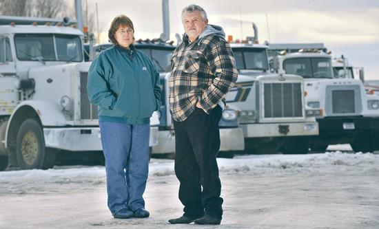 Volatile fuel prices tax truckers, clients