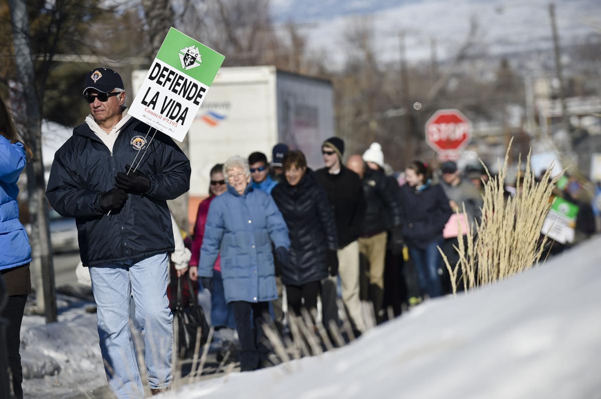 Pro-life demonstrators march