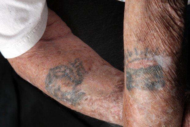 Herbert Livingston's WWII tattoos