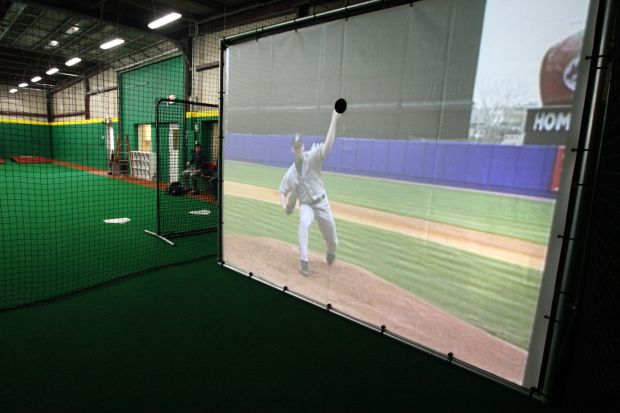 Inside the new indoor baseball training facility legion for Design indoor baseball facility