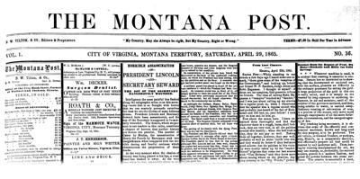 'Our hearts bleed as we write': Montana's reaction to news of Abraham Lincoln's death