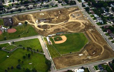 Photo: Aerial view shows construction progress at Centennial Park
