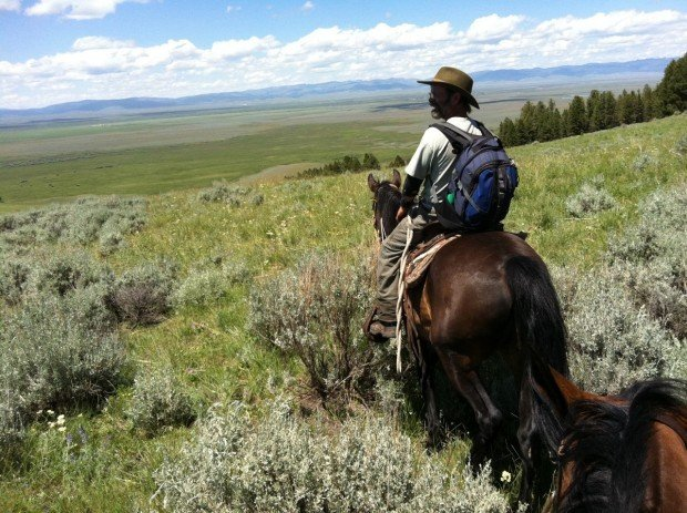 Chet Robertson, a range rider in the Big Hole Valley