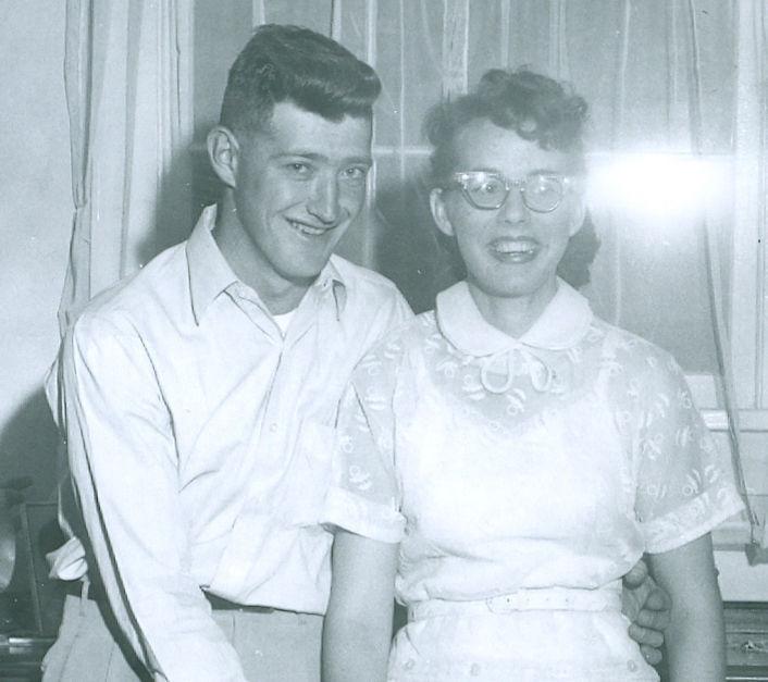 Henry 'Ed' and Roberta Hansen in 1955