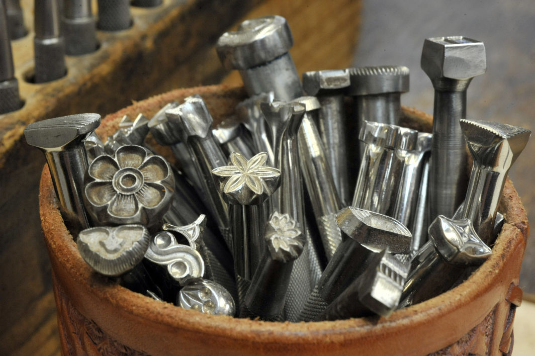 Leather stamping tools