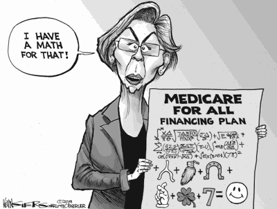 Elzabeth Warren's Medicare for All math